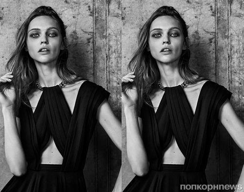 Саша Пивоварова в рекламной кампании Saint Laurent. Весна / лето 2014