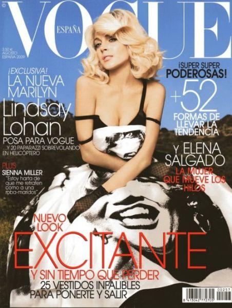 Линдсей Лохан в журнале Vogue. Испания. Август 2009