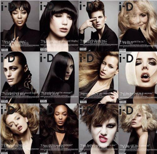 12 обложек журнала i-D. Март 2009