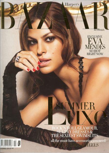 Ева Мендес в журнале Harper`s Bazaar. Ноябрь 2008