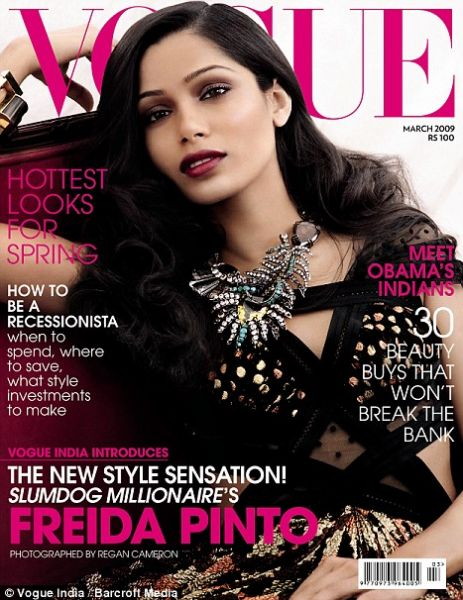 Фрида Пинто в журнале Vogue Индия. Март 2009