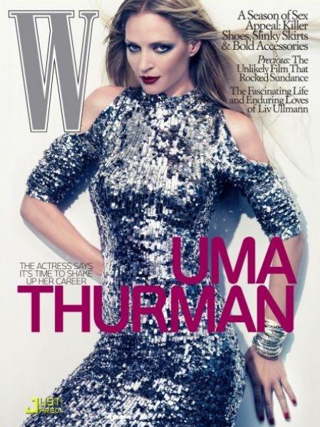 Ума Турман в журнале W. Октябрь 2009