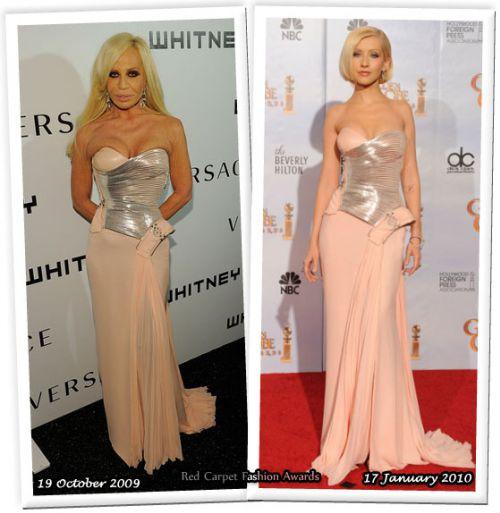 Fashion battle: Донателла Версаче и Кристина Агилера