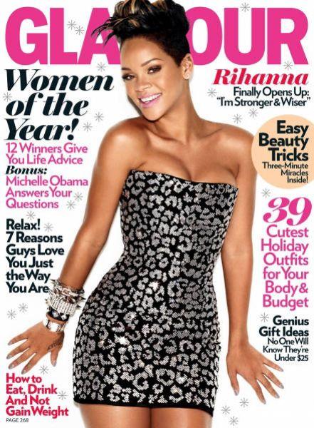 Рианна в журнале Glamour. Декабрь 2009