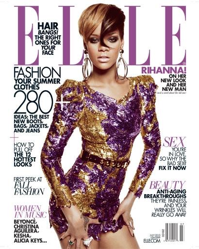 Рианна в журнале Elle. Июль 2010
