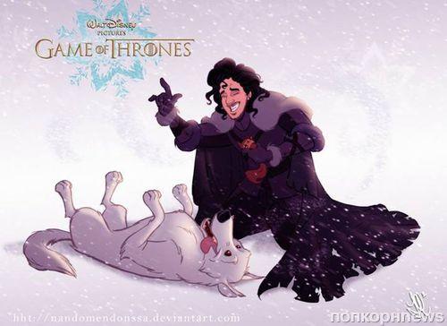 Герои сериала «Игры престолов» попали в Волшебную страну Диснея