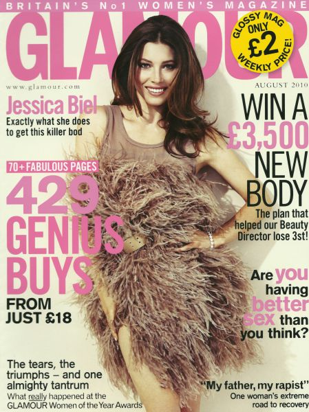 Джессика Бил в журнале Glamour. Август 2010