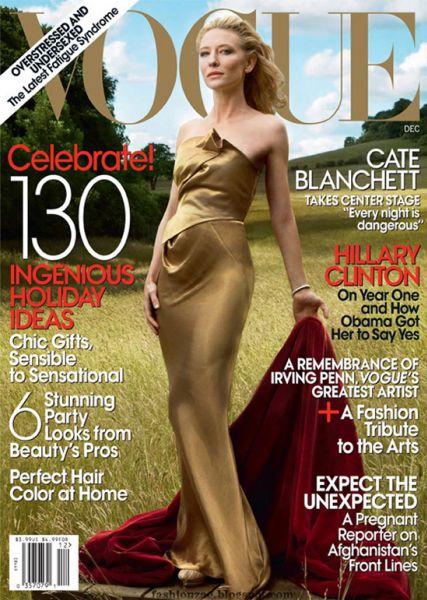 Кейт Бланшетт в журнале Vogue US. Декабрь 2009