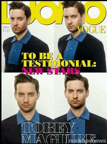 Тоби Магуайр в журнале L'Uomo Vogue. Февраль 2013