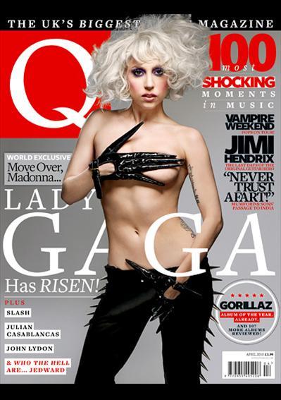 Lady GaGa топлесс в журнале Q. Март 2010