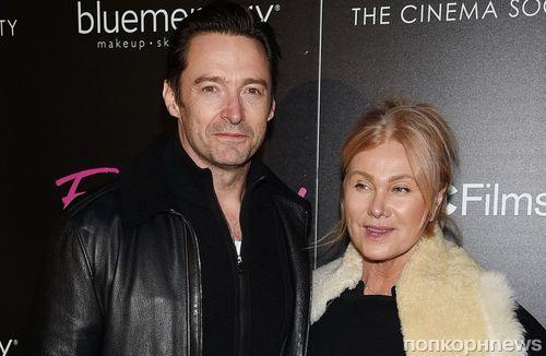 Фото: Хью Джекман с супругой на премьере фильма «Цирк уродов»