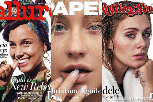 От Адель до Милы Кунис: 9 знаменитостей, осмелившихся сняться для обложек глянца без макияжа (фото)