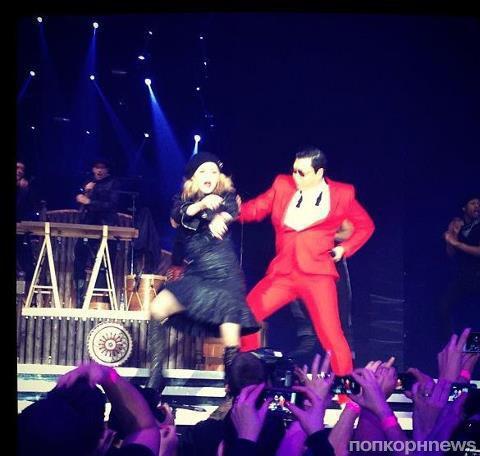 PSY выступил вместе с Мадонной