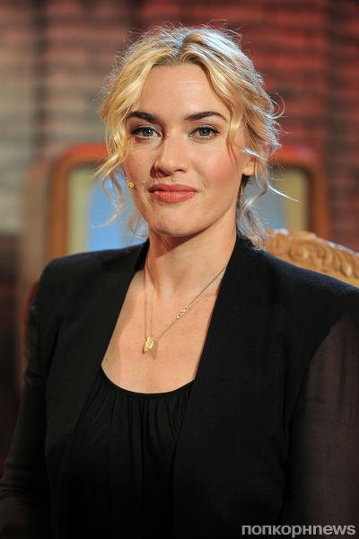 Кейт Уинслет на съемках шоу «Chiambretti»