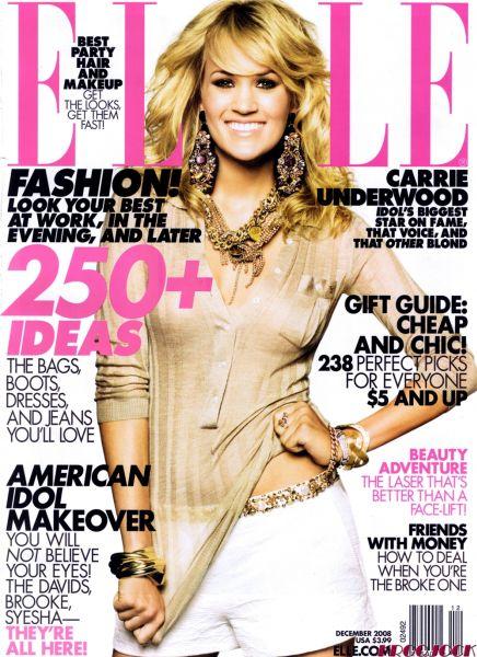 Кэрри Андервуд в Elle. Декабрь 2008