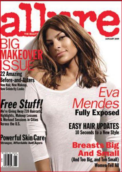 Ева Мендес в журнале Allure. Январь 2009
