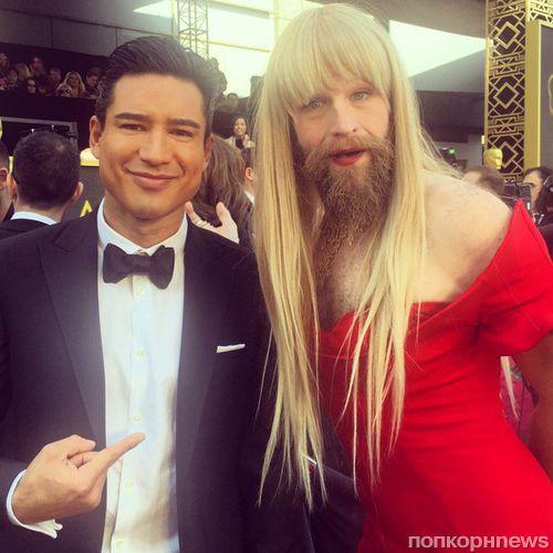 Самый неожиданный тренд «Оскара 2016»: женщина с бородой