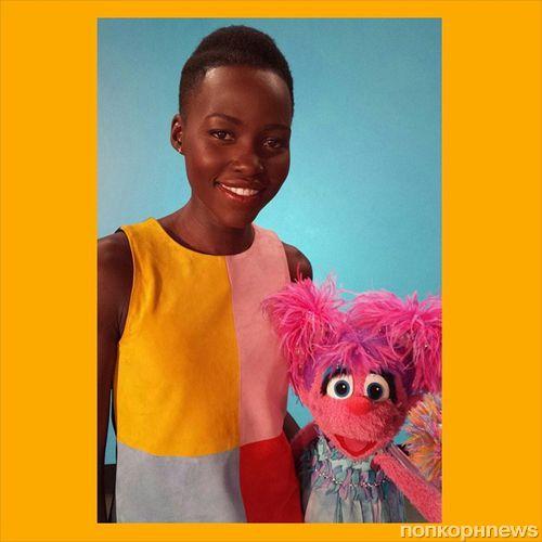 Люпита Нионго в детской передаче «Улица Сезам»