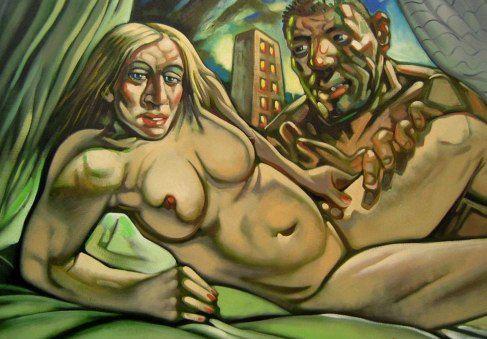 Художник Марк Хоусон нарисовал картину с Мадонной и Гаем Ричи
