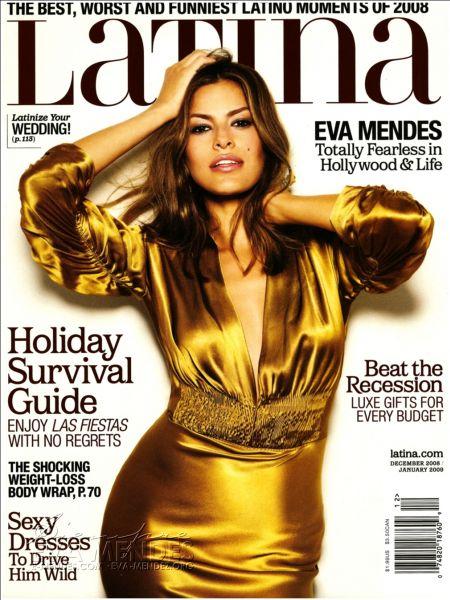Ева Мендес в журнале Latina. Январь 2009