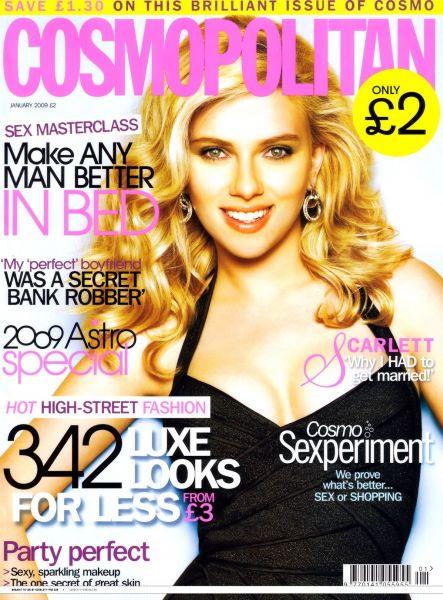 Скарлетт Йоханссон в журнале Cosmopolitan UK. Январь 2009