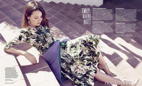 Эмили Браунинг в журнале Instyle. Март 2014