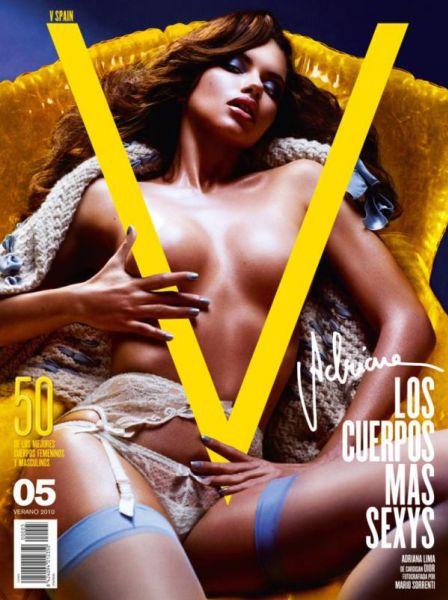 Адриана Лима на обложке журнала V Испания. Лето 2010