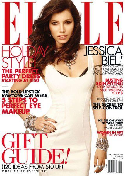 Джессика Бил в журнале Elle. Декабрь 2011