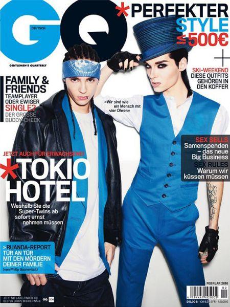Tokio Hotel в журнале GQ. Германия. Февраль 2010