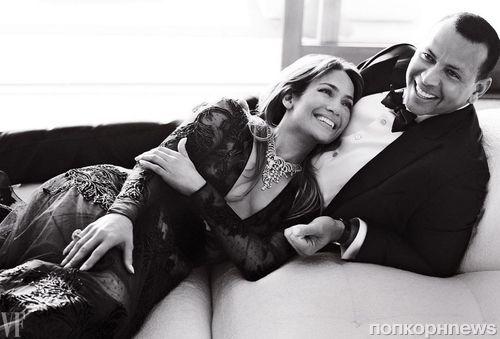Дженнифер Лопес и Алекс Родригес вместе снялись для Vanity Fair