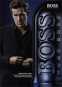 Райн Рейнольдс в рекламе туалетной воды Hugo Boss
