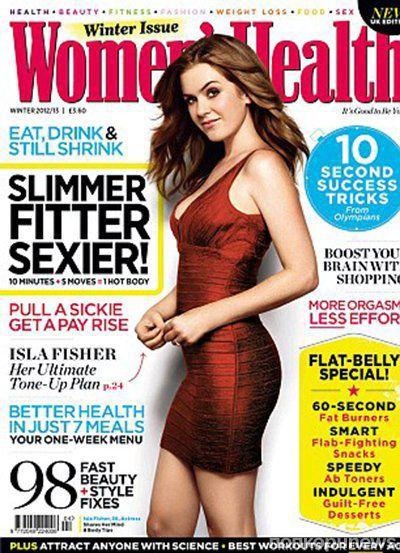 Айла Фишер в журнале Women's Health. Декабрь 2012