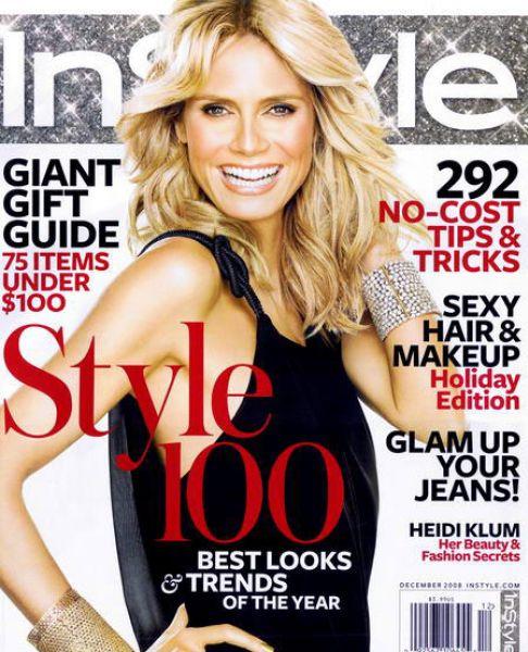 Хайди Клум в журнале InStyle. Декабрь 2008