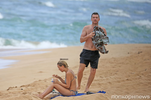 Сэм Уортингтон и Лара Бингл на Гавайях