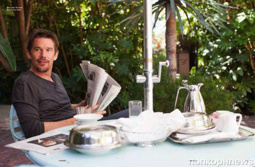 Итан Хоук в журнале L'Officiel Hommes Германия. Осень / зима 2014-2015