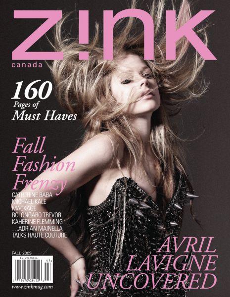 Аврил Лавин в журнале Zink. Канада. Осень 2009