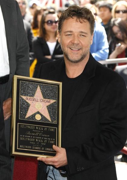 Рассел Кроу получил звезду на Аллее славы Голливуда