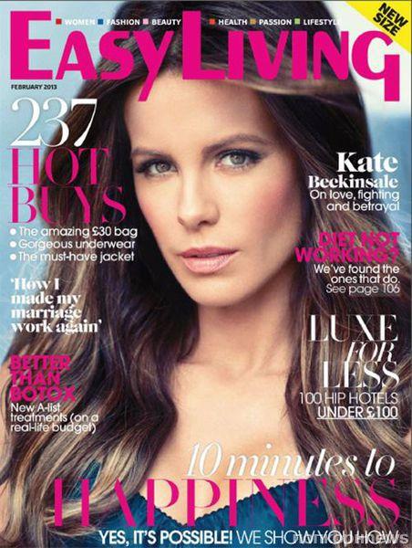 Кейт Бекинсейл в журнале Easy Living. Февраль 2013