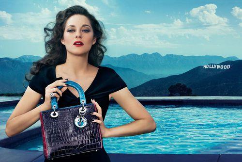Марион Котийяр в новой рекламе сумок Lady Dior