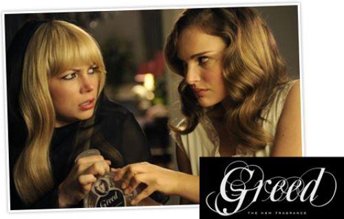 Реклама туалетной воды «Greed» с Натали Портман и Мишель Уильямс