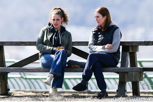 Кристен Стюарт и Джулианна Мур на съемках нового фильма