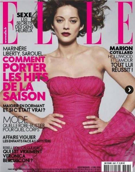 Марион Котийяр в журнале Elle Франция. Июнь 2009