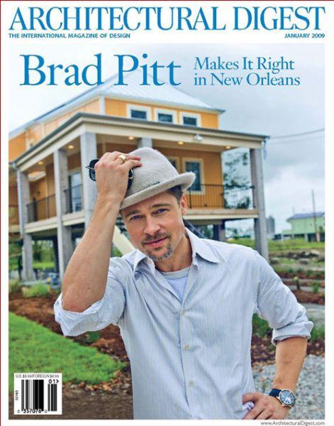 Брэд Питт в журнале Architectural Digest. Январь 2009