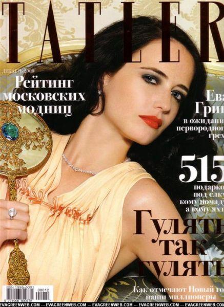 Ева Грин в журнале Tatler. Декабрь 2008