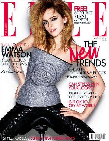 Эмма Уотсон в журнале Elle. Август 2009