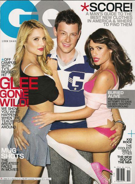 """Актеры сериала """"Хор / Glee"""" в журнале GQ. Ноябрь 2010"""