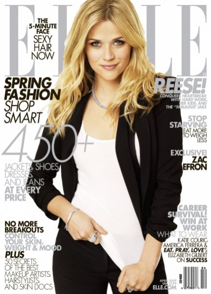 Риз Уизерспун в журнале Elle. Апрель 2009