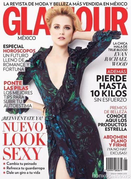 Ивэн Рэйчел Вуд в журнале Glamour Мексика. Январь 2013