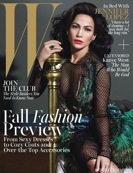 Дженнифер Лопес в журнале W Magazine. Август 2013