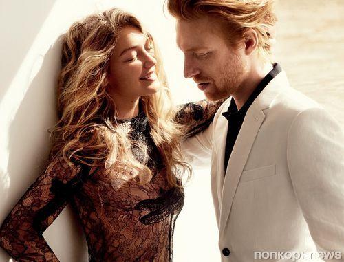 Джиджи Хадид и актер «Звездных войн» Донал Глисон для Vogue, декабрь 2015
